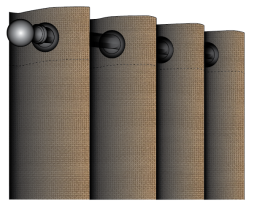 Sunbrella Shadow Outdoor Grommet Drape - Custom made curtains - any size