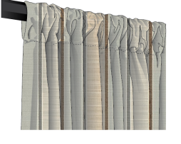 Sunbrella Canvas Sripe Rod Pocket Curtains and Drapes - Custom made to size. Anyy width or length.