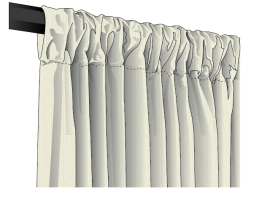 Sunbrella Spectrum Outdoor Rod Pocket Drapery