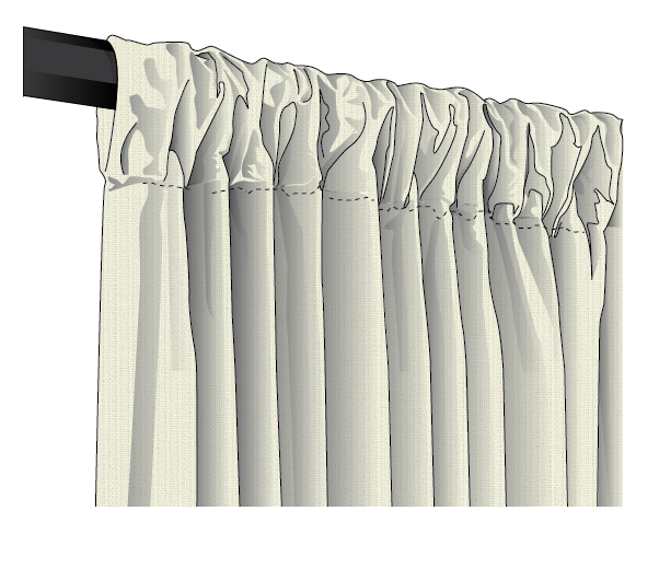 Sunbrella Spectrum ROD POCKET Drapes