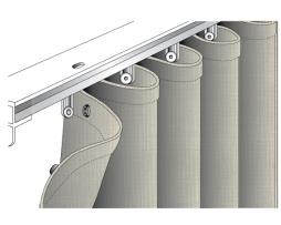 Sunbrella Mist Ripple Fold Drapery - Ideal for indoors and outdoors - Sun safe.