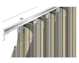 Custom MadeSunbrella Ripplefold Canvas Drape Curtains