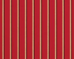 Sunbrella Canvas Crimson Cocoa Stripe 5603-0000 outdoor fabric for drapes and curtains