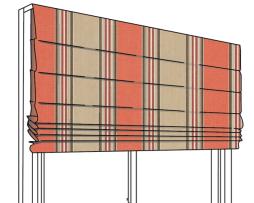 Sunbrella Roman Shade Flat Pleated Canvas Stripe